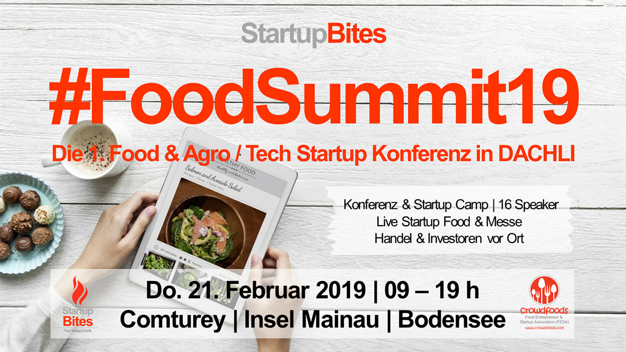 Ankündingung StartupBites FoodSummit19