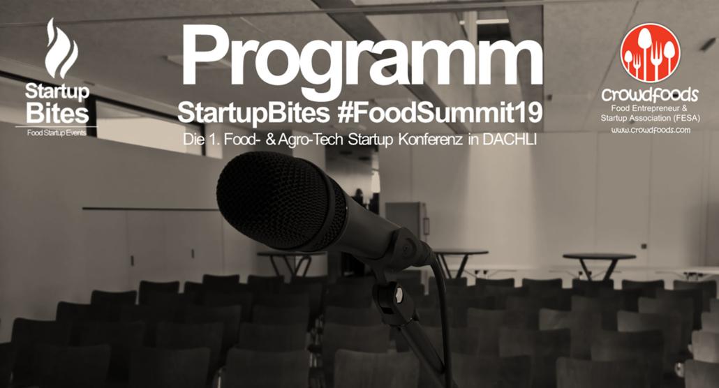 Programm StartupBites #FoodSummit19