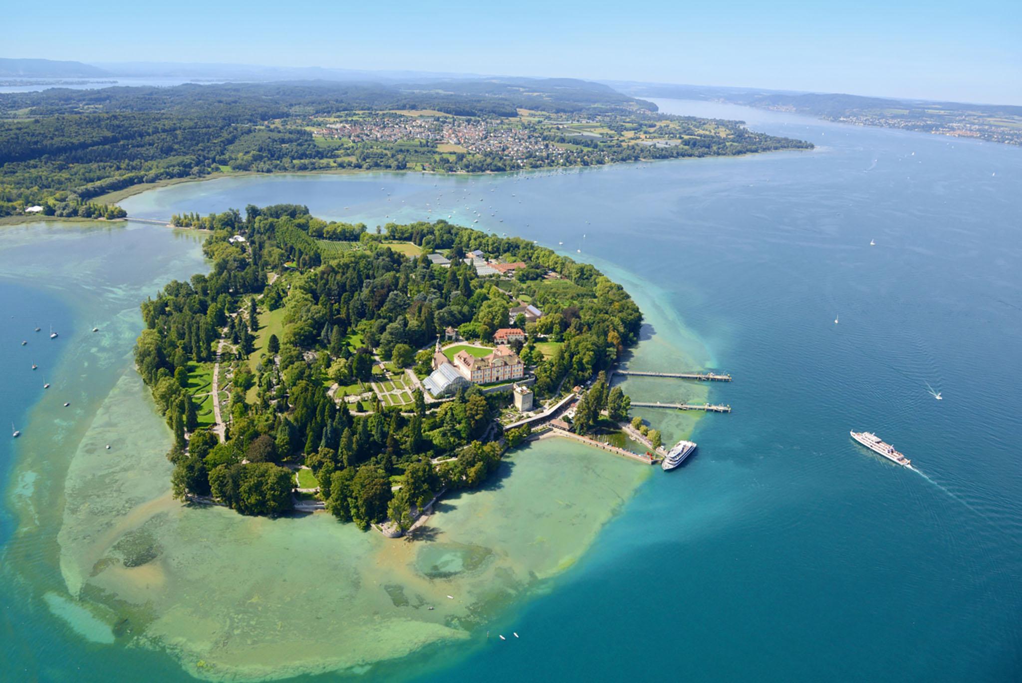 Luftaufnahme Insel Mainau