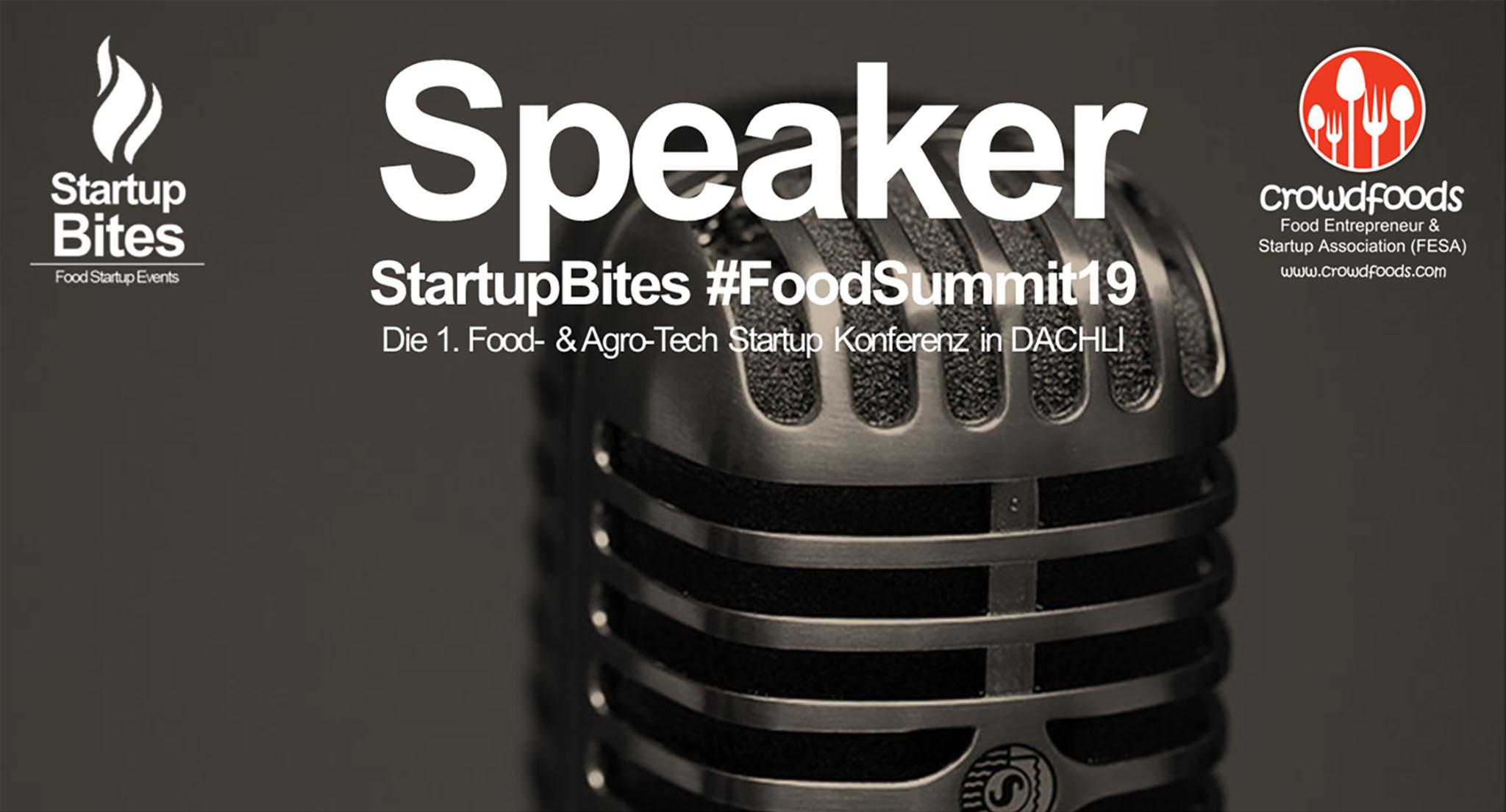 Speaker StartupBites #FoodSummit19