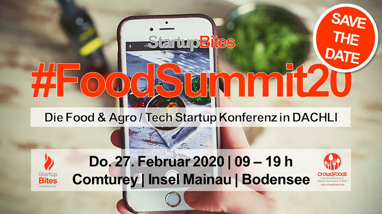StartupBites #Foodsummit20: Save The Date!