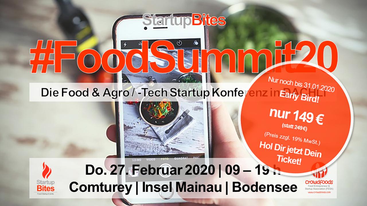 StartupBites #FoodSummit20: Early Bird!